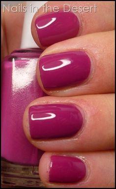 essie footloose: creamy raspberry w/ purple undertones