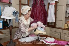 The Millinery Shop at Colonial Williamsburg. Photo by David M. Doody