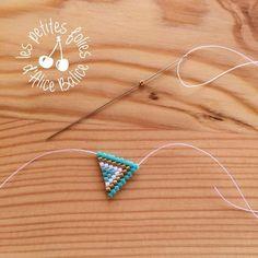 Pour commencer la découverte du brick stitch, je vous propose de réaliser cette paire de boucles...