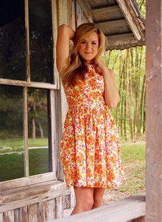 Floral cotton dress with pockets  #UsTrendy #Spring #Style   - adorable! and it has pockets! <3