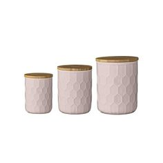 Set of 3 Canisters - Nude