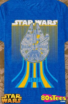 Millennium Falcon 1977 Star Wars T-Shirt: Star Wars Geeks:  Travel everywhere  in this men's style shirt that has been designed with great art and illustration.
