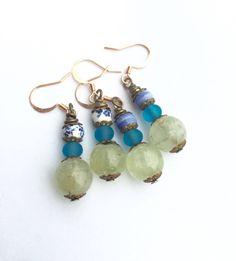 New in our shop! Pale Green Prehnite Earrings, Small Drop Earrings, Ocean Colors Jewelry, Boho Earrings, Anniversary Gift, Copper Ear Wires https://www.etsy.com/listing/556060782/pale-green-prehnite-earrings-small-drop?utm_campaign=crowdfire&utm_content=crowdfire&utm_medium=social&utm_source=pinterest
