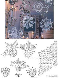 Crochet Snowflake Pattern, Christmas Crochet Patterns, Crochet Snowflakes, Crochet Mandala, Doily Patterns, Crochet Granny, Filet Crochet, Crochet Motif, Crochet Doilies