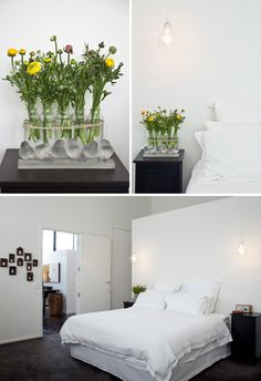 Melbourne Home – Lynda Newton and family | The Design Files. Bedside lighting ideas