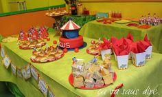 Allestimento tavolo Circo