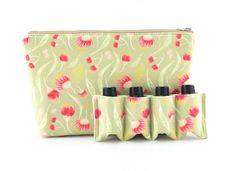 Essential Oil Bag,  Essential Oil Travel Bag, Essential Oil Pouch, Essential Oil Carry Bag, Essential Oil Wallet, Green Gum Flowers