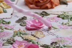 I ❤ ribbon embroidery . . . Twirled Ribbon Rose Step 3 ~By Di Van Niekerk