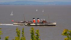 The Waverley leaving Penarth, Vale of Glamorgan, as seen by Terence Rickards. Cardiff, South Wales, Seattle Skyline, My Childhood, Paddles, Explore, History, Welsh, Fathers