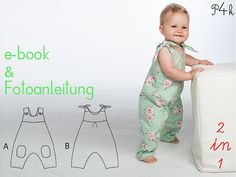 Baby Overall Modell Lotte  Schnittmuster mit by pattern4kids