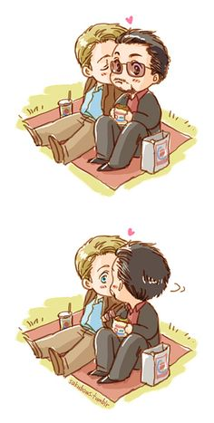 Once again - not shipping it. Tony is clearly in love with Bruce, but this is just so damn cute.