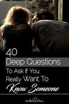 40 Deep Questions To Ask If You Really Want To Get To Know Someone 40 tiefe Fragen, die Sie stellen. Questions To Get To Know Someone, Deep Questions To Ask, Questions To Ask Your Boyfriend, Getting To Know Someone, Personal Questions, This Or That Questions, Interesting Questions To Ask, Things To Ask Your Boyfriend, Intimate Questions