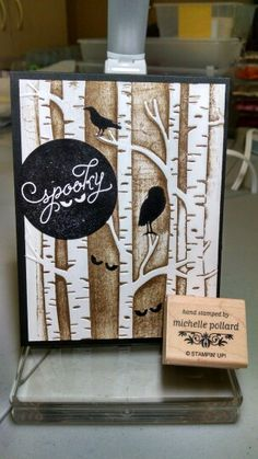 Stampin ' Up among the branches and woodland embossing folder. Holiday catalog 2015-2016. Order starting on Sept. Www.girlshavingfun.stampinup.net