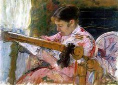 Mary Cassatt ~ Mary is Weaving ~ 1881