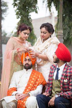 Sehrabandi ceremony Punjabi Wedding Suit, Punjabi Wedding Couple, Sikh Wedding, Wedding Men, Wedding Suits, Wedding Couples, Punjabi Suits, Groom Outfit, Groom Dress
