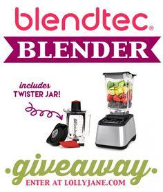 WIN a Blendtec Blender + the new Twister jar! Enter at LollyJane.com
