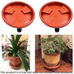 Universal Wheel Resin Flower Pot Tray Mobile Flower Pot Base