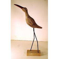 Crane With Head Up Figurine