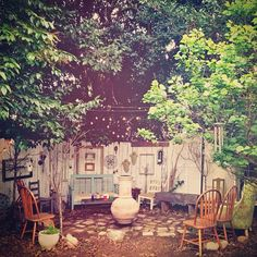a backyard for visitors ...