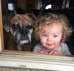 These Adorable Pictures Prove That Kids And Dogs Need Each Other Dogs And Kids, Animals For Kids, I Love Dogs, Animals And Pets, Baby Animals, Funny Animals, Cute Animals, Tier Fotos, Boxer Dogs