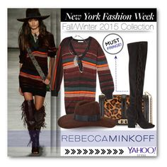 """She walk it like a model..."" by eclectic-chic ❤ liked on Polyvore featuring Rebecca Minkoff, rebeccaminkoff, contestentry, PolyvoreNYFW, fringeshoes and yahoostyle"