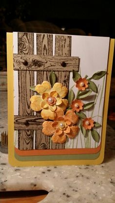 Stampin up                                                            Like the fence, could use it for scrapbooking too.