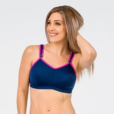 256e798e0bb Cadenshae Nursing Activewear Product Review and Giveaway! This navy nursing sports  bra ...