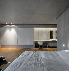 Resort Residence Quilt Also Animal Skin Rug Near Hardwood Floor Wooden Floor in Spacious Home with Minimalist Approach