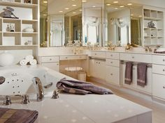 Contemporary Bathrooms from Drury Design on HGTV