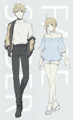 Arthur and Arturia [Fate] Drawing Anime Clothes, Manga Drawing, Drawing Faces, Manga Art, Cute Drawings, Manga Anime, Drawing Tips, Pencil Drawings, Anime Siblings