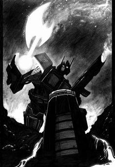 Optimus Prime-axe by ~Livio27 on deviantART