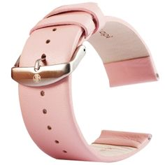 [$4.67] Kakapi Subtle Texture Brushed Buckle Genuine Leather Watchband for Apple Watch 42mm, Only Used in Conjunction with Connectors (S-AW-3293)(Pink)