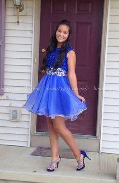 New Mini Homecoming Dresses High School Blue Sleeveless Beading Mezuniyet Elbiseleri 2017 Beautiful Junior Prom Dresses Royal Blue Homecoming Dresses, Junior Prom Dresses, Prom Dresses For Teens, Prom Party Dresses, Party Gowns, Dance Dresses, Formal Dresses, Vestidos Royal Blue, Pretty Dresses
