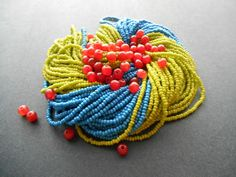 Blue and green have really been taking over my creative space lately, so for this week's bead color experiment, I thought it would be fun to. Beadwork, Beading, Juniper Berry, Crochet Necklace, Creative, Fun, Color, Beautiful, Ideas