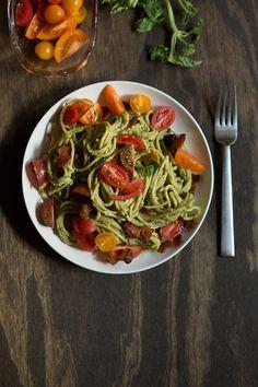 Avacado Pesto Pasta. N could eat!