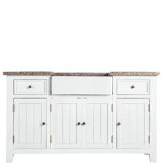 MAPLE HILL - Шкаф кухонный  Напольный шкаф с раковиной из керамики, столешницей из гранита, сделан из павловнии и ДВП, с металлической фурнитурой. С двумя ящиками, двойными дверками, и индивидуальными дверками, за которыми по полке. Поставляется в частично собранном виде, потребуетс Размеры: 155 х 65,5 х 88 см Артикул: 10190904 12800-00