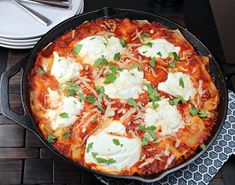 Skillet lasagna | 23 Mouthwatering Examples Of Skillet Porn