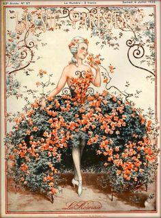 1925-La-Vie-Parisienne-French-La-Roseraie-France-Travel-Advertisement-Poster