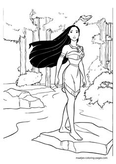 Disney Pocahontas coloring pages Disney Pinterest Disney