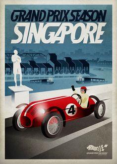 singapore 41 grand prix poster - Google Search