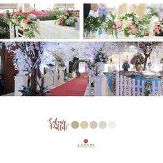Dengan nuansa putih dikombinasi warna soft, jadilah dekorasi pernikahanmu tampak manis dan sederhana  Jika kamu mengenakan warna soft untuk dekorasimu, maka untuk pemilihan warna busana kenakanlah dengan tone warna yang sama tapi lebih cerah