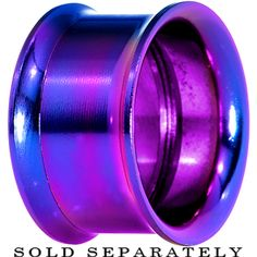 "3/4"" Purple Anodized Titanium Screw Fit Tunnel 