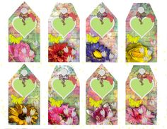 8 beautiful gift tags each with pretty by ChangingArtitudes