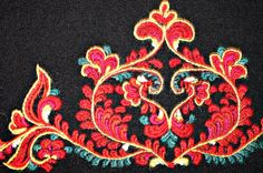 FolkCostume&Embroidery: Costume and 'Rosemaling' Embroidery of West Telemark, Norway Scandinavian Embroidery, Scandinavian Folk Art, Folk Fashion, Fashion Art, Folk Costume, Costumes, Norwegian Clothing, Traditional Design, Embroidery Applique