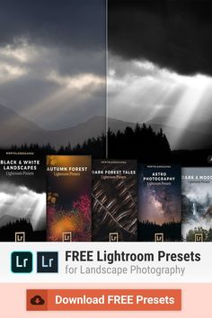 A collection of carefully selected and high-quality Lightroom presets for landscape and travel photography: Dark & Moody Presets / Autumn Forest Presets / Black & White Presets / Astrophotography Presets and more! Learn Photography, Landscape Photography, Travel Photography, Autumn Forest, Dark Forest, Best Free Lightroom Presets, Lightroom Tutorial, Camera Hacks, Photo Editing