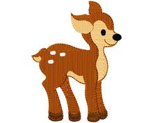 Stickmuster Stickdatei Embroidery Design Animal Fawn Deer Reh Bambi by www.Stickmuster.org. Dein Shop für Stickmuster / Stickdateien. Your Embroidery Designs Shop.