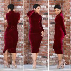 DIY: Velvet turtleneck dress.  Mimi G.   :-D