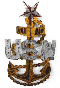 US Navy Senior Chief Fluid Metal Sign