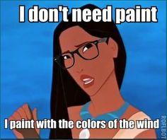 hipster Pocahontas. hahaha