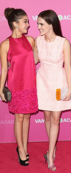 Sarah Hyland in Temperley London and Zoey Deutch in Dior.